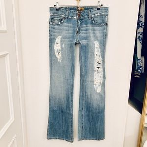 NWOT Angel Ripped Jeans